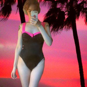 Vintage 80's Catalina One-Piece Swimsuit